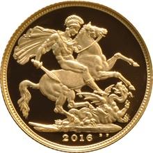 2016 Gold Proof Sovereign - Elizabeth II James Butler effigy - Limited Release