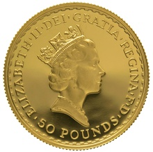 1996 Half Ounce Proof Britannia Gold Coin