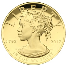 2017 1oz $100 American Liberty High Relief Gold Coin 225th anniversary Boxed