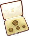 1937 Gold Proof Sovereign Four Coin Set Boxed