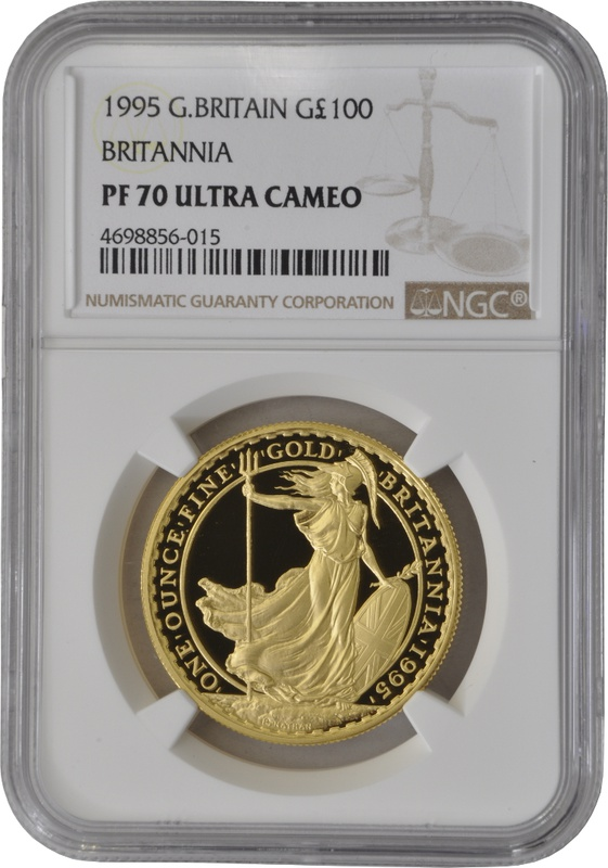 1995 One Ounce Proof Britannia Gold Coin NGC PF70