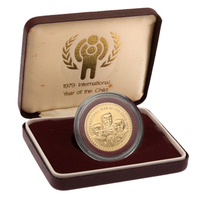 1979 Lesotho 1oz 250 Maloti -Unesco  Year of the Child Boxed
