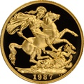 1987 Two Pound £2 Proof Gold Coin (Double Sovereign)