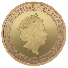 2018 £2 Two Pound Proof Gold Coin RAF Centenary Badge