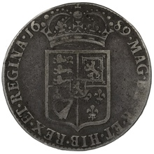 1689 William & Mary Silver Halfcrown