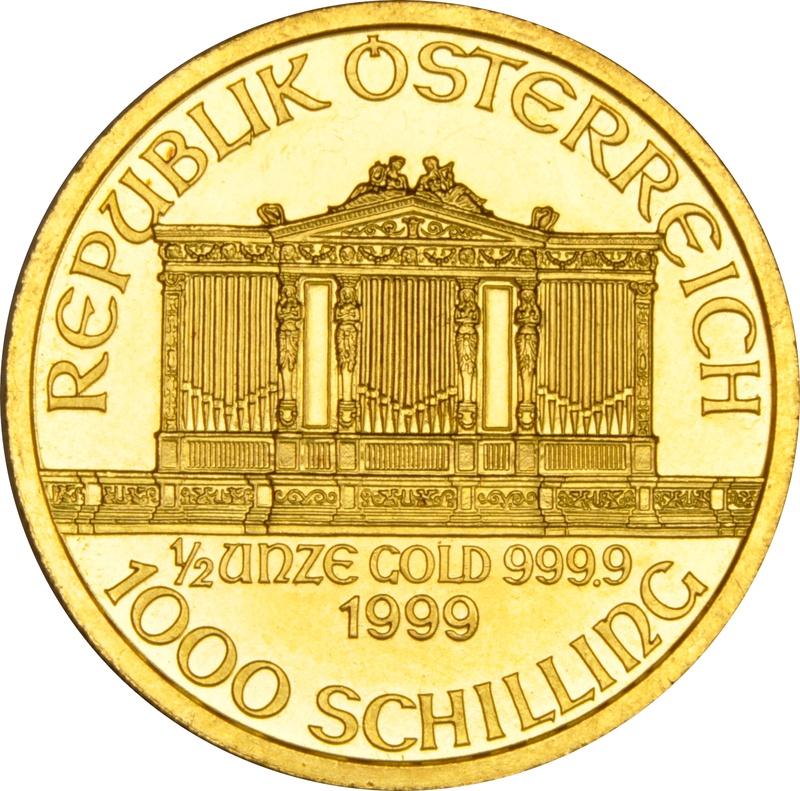 1999 Half Ounce Gold Austrian Philharmonic