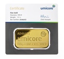 Umicore 100 Gram Gold Bar