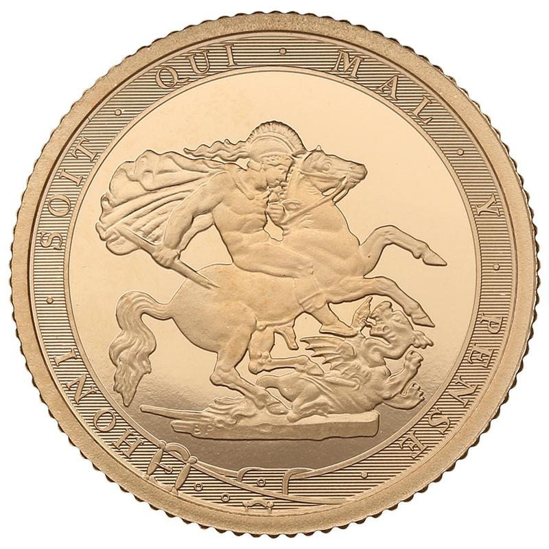 2017 Gold Half Sovereign Elizabeth II Fifth Head Proof
