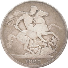 1822 George IV Silver Crown - Fine