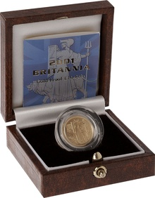2001 Proof Britannia Tenth Ounce Boxed