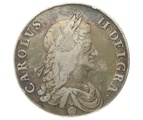 1662 Charles II Crown - Fine or better