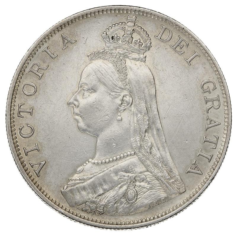 1888 Queen Victoria Silver Double Florin - Inverted 1 in VICTORIA