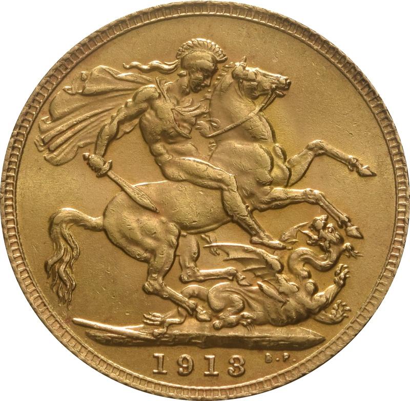 1913 Gold Sovereign - King George V - London