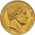 20 Belgian Franc Leopold I  plain head