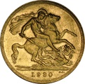 1930 Gold Sovereign - King George V - P