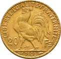 20 French Francs - Marianne Rooster Original 1899 - 1906