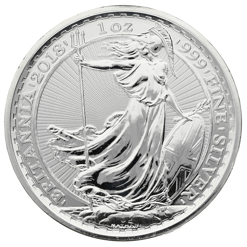 2018 1oz Dog Privy Edge British Britannia Silver Coin