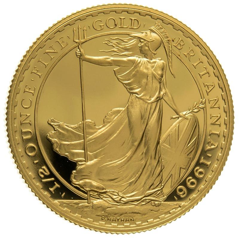 1996 Half Ounce Proof Britannia Gold Coin