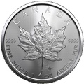 2021 1oz Canadian Maple Silver Coin