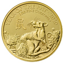 2020 Royal Mint 1oz Year of the Rat Gold Coin