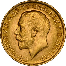 1916 Gold Sovereign - King George V - London NGC MS62