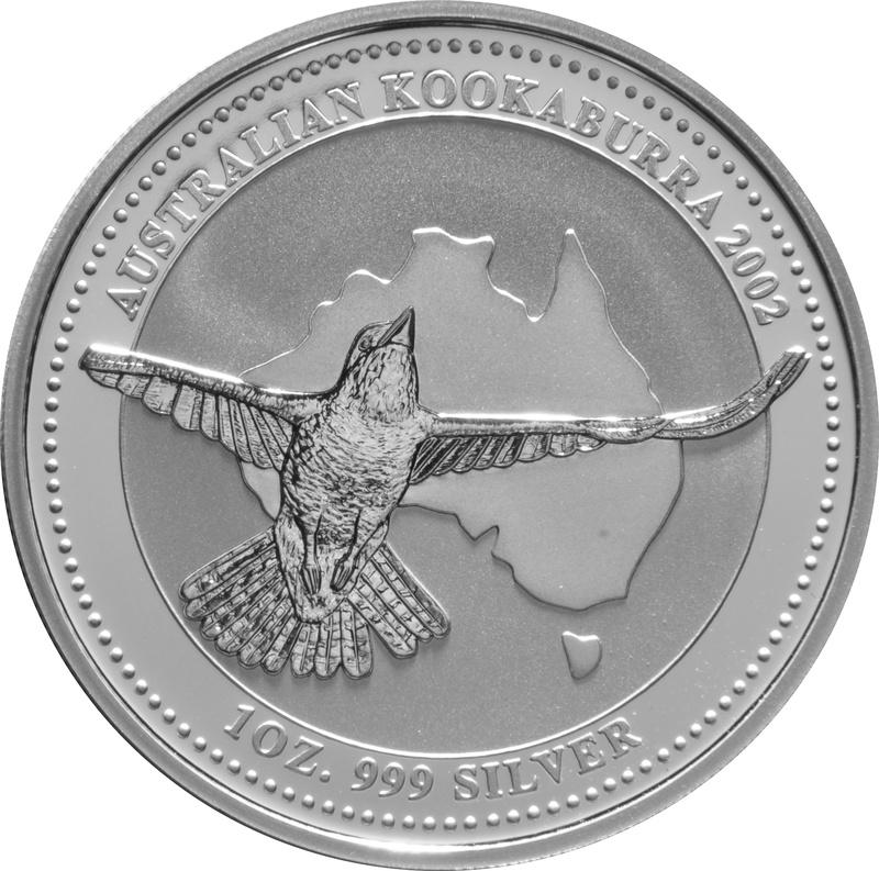 2002 1oz Silver Kookaburra