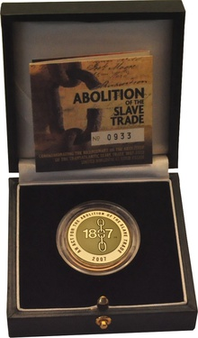2007 £2 Two Pound Proof Gold Coin: Abolition of Slave Trade Boxed