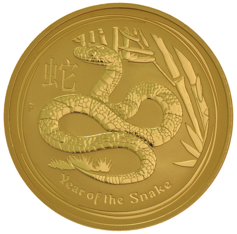 2013 10oz Year of the Snake Lunar Gold Coin