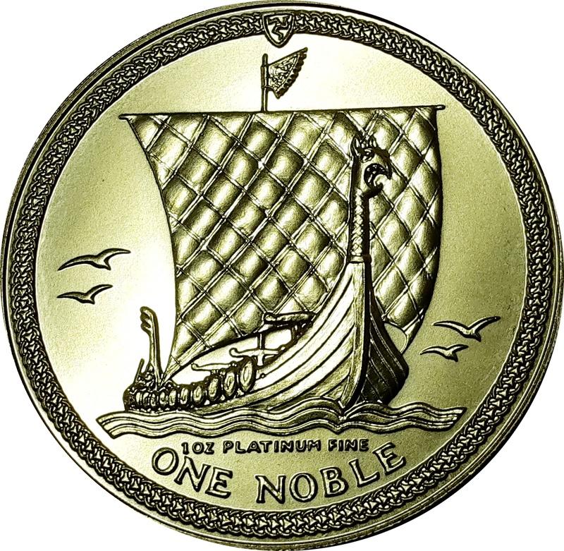1oz Platinum, Isle of Man, One Noble