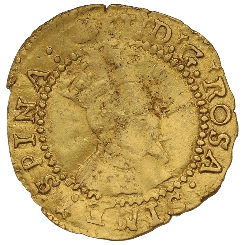 1615-6 James I Gold Halfcrown mm Tun