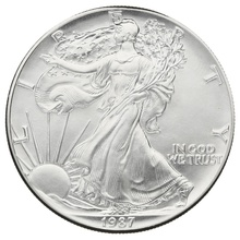 1987 1oz American Eagle Silver Coin