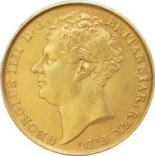 1823 George IV Double Sovereign - Near Extra-Fine