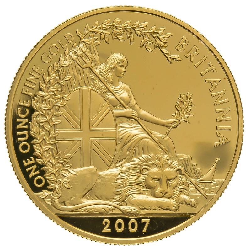 2007 One Ounce Proof Britannia Gold Coin