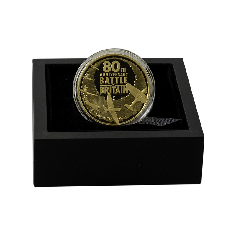 2020 80th Anniversary Battle Of Britain 2oz Gold Proof Coin Boxed