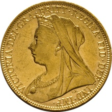 1900 Gold Sovereign - Victoria Old Head - S