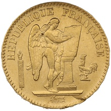 1887 20 French Francs - Guardian Angel - A