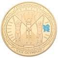 2012 - Gold £5 Proof Crown, London Olympics Winners Podium
