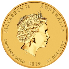 2019 Perth Mint Quarter Ounce Year of the Pig Gold Coin Gift Boxed