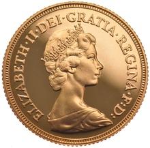 1984 Gold Sovereign - Elizabeth II Decimal Head Proof