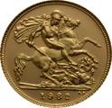 1982 Gold Half Sovereign Elizabeth II Decimal Head