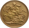1904 Gold Sovereign - King Edward VII - P