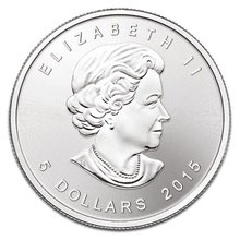 2015 1oz Canadian Maple Silver Coin