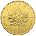 1992 1oz Canadian Maple Gold Coin