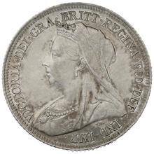 1900 Queen Victoria Silver Shilling