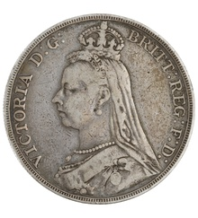 1888 Victoria Jubilee Head Crown - Fine
