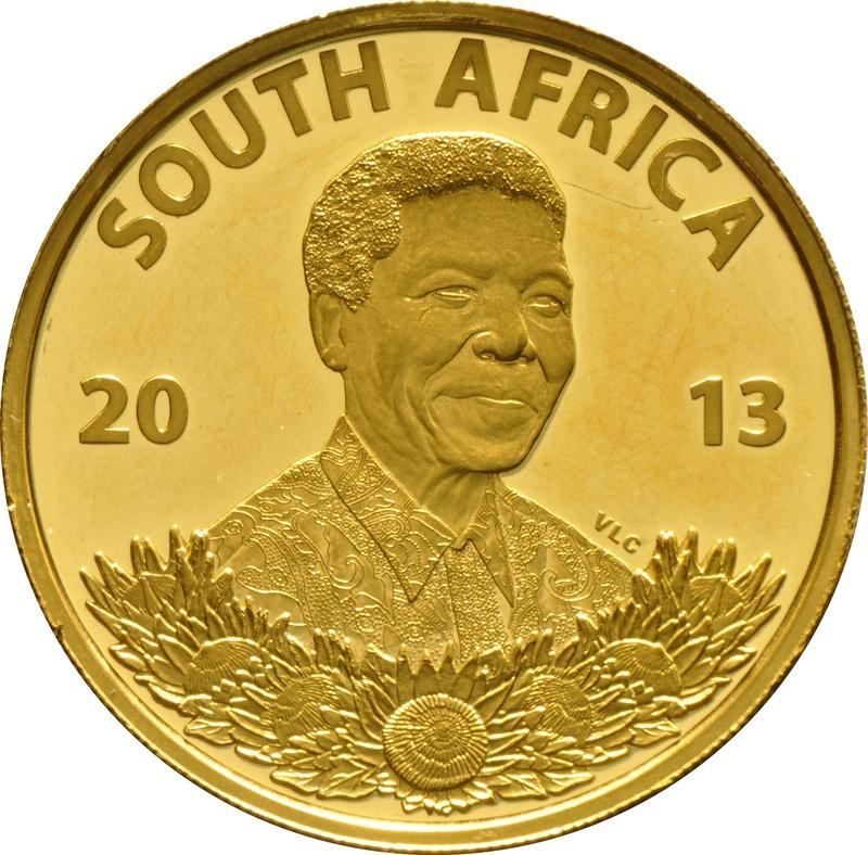 2013 Protea One Ounce gold Coin Nelson Mandela