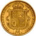 1887 Half Sovereign Victoria Jubilee Head Shield Back - London
