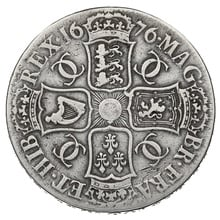 "1676 Charles II Silver Crown ""V.OCTAVO"""