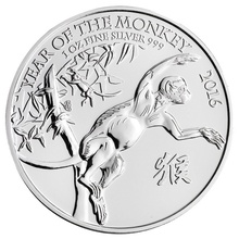 2016 Royal Mint 1oz Year of the Monkey Silver Coin