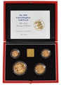 1996 Gold Proof Sovereign Four Coin Set Boxed